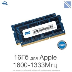 Комплект модулей памяти OWC 16GB для Apple 2011-2012-2015 iMac, mac mini, macbook pro (набор 2x 8GB) 1600MHZ DDR3L SO-DIMM PC3-12800 16Gb kit