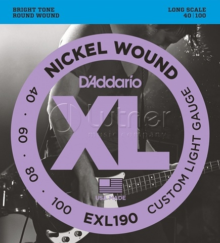 D`Addario EXL190 XL NICKEL WOUND Струны для бас-гитары