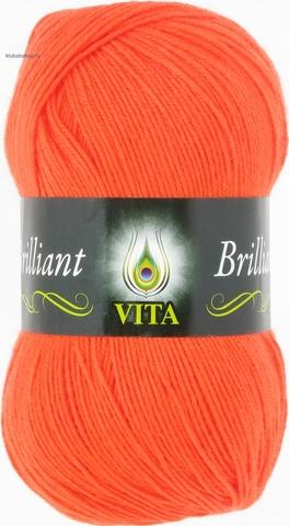 Пряжа Brilliant Vita 5104 ультра-оранжевый коралл (упаковка 5 мотков) - купить в интернет-магазине от 1 упаковки