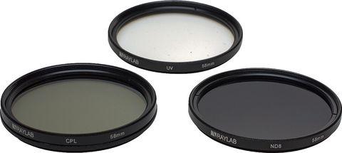 Набор фильтров RAYLAB UV/CPL/ND8 58mm