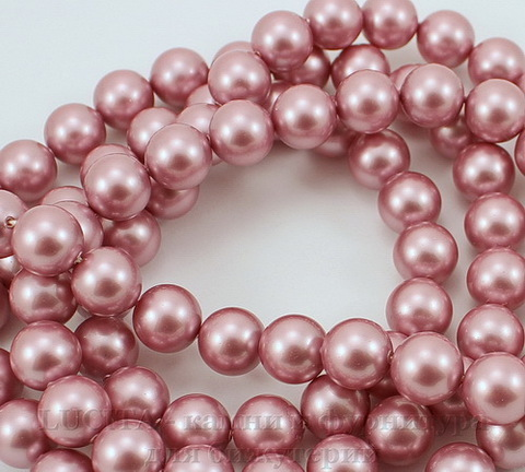 5810 Хрустальный жемчуг Сваровски Crystal Powder Rose круглый 8 мм , 5 шт