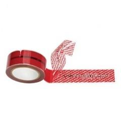 Клейкая лента защита от вскрытия красная 50ммх50м