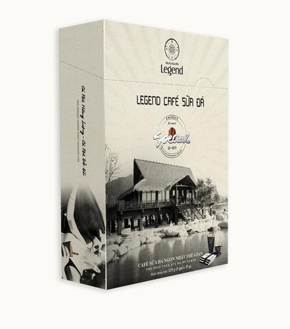 Вьетнамский растворимый кофе Legend, Café Sua Da (кофе с молоком и льдом), 3 в 1, 5 пак.