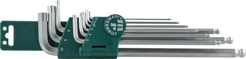 H23S109S Набор ключей торцевых шестигранных удлиненных с шаром для изношенного крепежа, 9 предметов