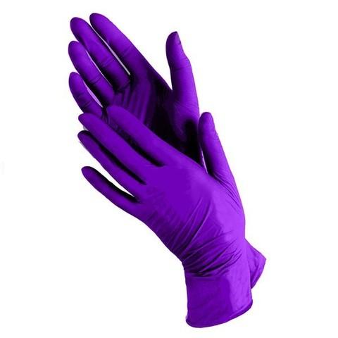 Перчатки одноразовые НИТРИЛОВЫЕ синие/сиреневые, размер L, 1 пара