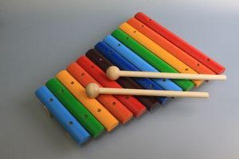 Ксилофон деревянный, 12 тонов окрашенный