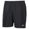 Мужские беговые шорты Asics Woven Short (110413 0954) черные с желтой полосой