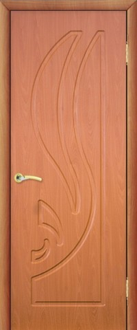 Дверь Сибирь Профиль Лилия, цвет миланский орех, глухая
