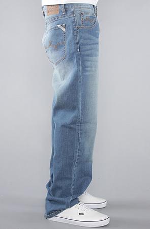Джинсы широкие синие LRG фото 3