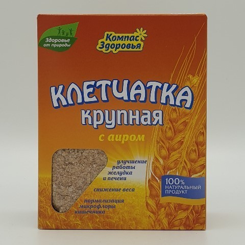Клетчатка крупная с аиром КОМПАС ЗДОРОВЬЯ, 150 гр
