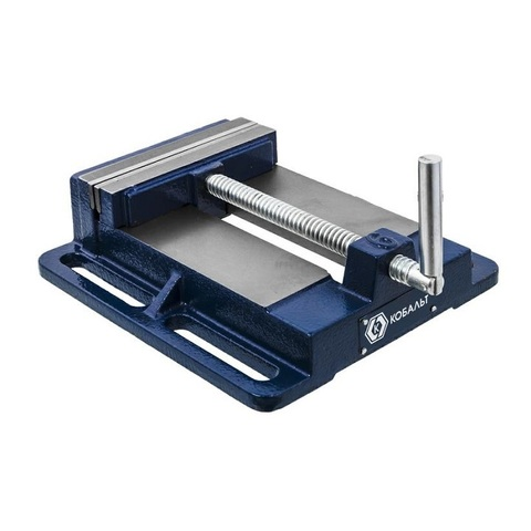 Тиски станочные КОБАЛЬТ ширина губок 150 мм,  захват 150 мм, 6.3 кг, коробка (246-067)
