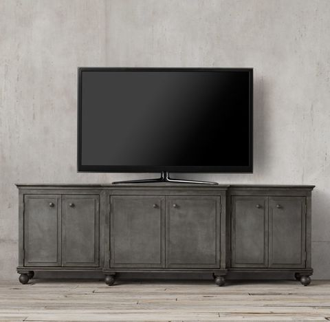 Annecy Metal-Wrapped Large Media Console