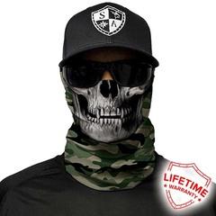 Бандана с черепом SA Green Military Camo Skull