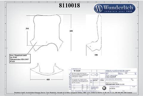 Ветровое стекло ERGO BMW G650GS прозрачное