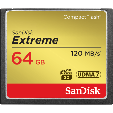 Карта памяти SanDisk CF Extreme 64 GB 120 MB/s