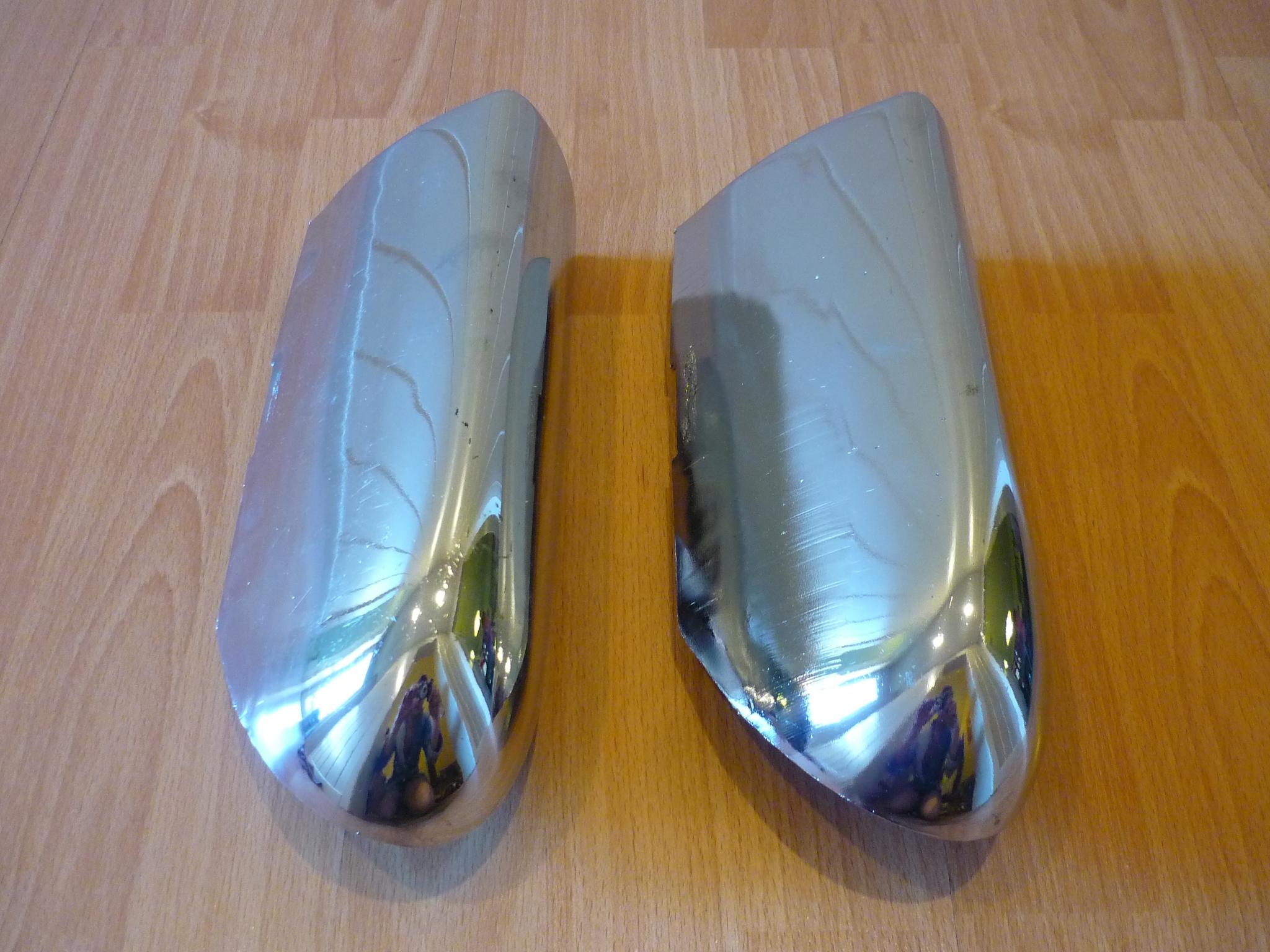 Углы заднего бампера Газ 2402 хром