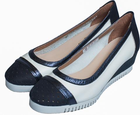 82000* METAL GLITER туфли женские, нубук/кожа/нубук/кожа,син/син/бел/син SABRINAS