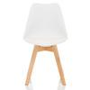 Белый пластиковый стул Jerry Джерри на деревянных ножках