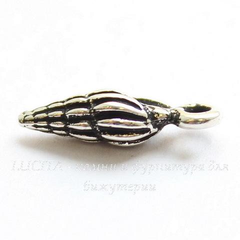 """Подвеска TierraCast """"Ракушка"""" маленькая (цвет-античное серебро) 15х5 мм"""