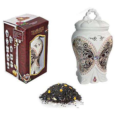 Подарочный набор. Керамическая чайница Чай