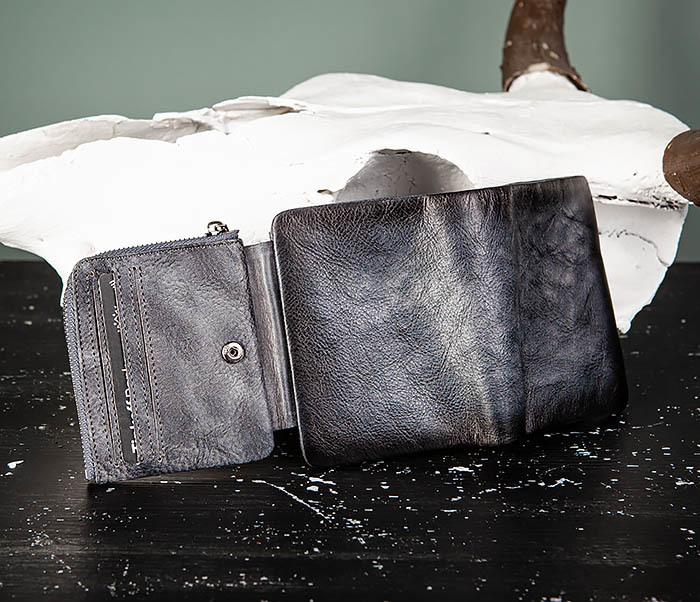 WL329-3 Мужское портмоне из натуральной кожи с монетницей фото 07