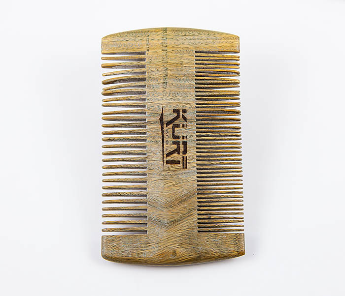 RAZ454 Деревянный двухсторонний гребень для бороды фото 04