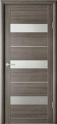 Дверь Фрегат ALBERO Прага, стекло матовое, цвет серый кедр, остекленная