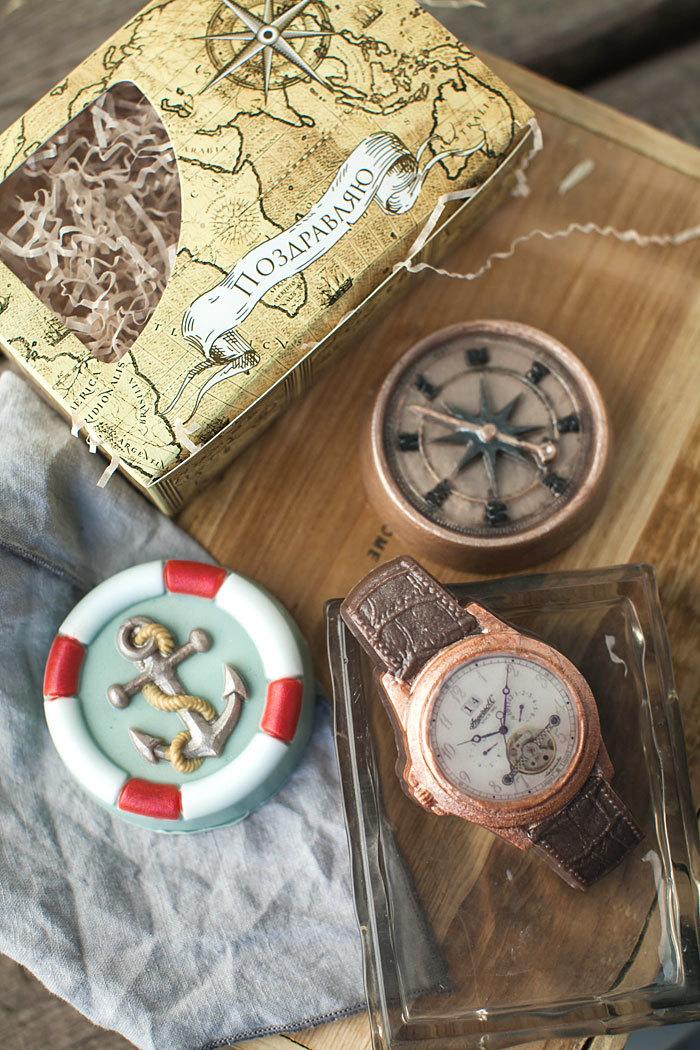 Мыло Часы с браслетом. Форма пластиковая
