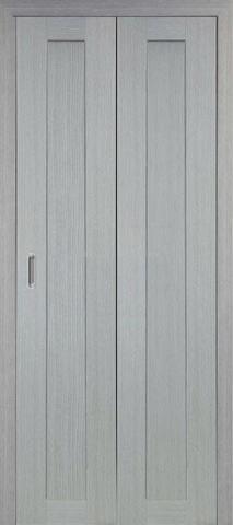> Экошпон складная Optima Porte Турин 501.1  (2 полотна), цвет дуб серый, глухая