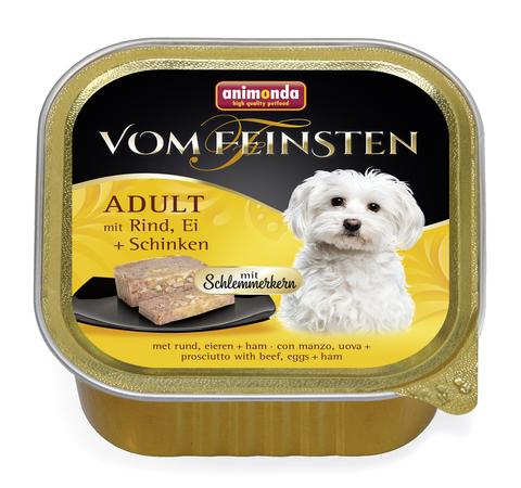 Консервы Animonda Vom Feinsten Adult Меню для гурманов с говядиной, яйцом и ветчиной для взрослых привередливых собак