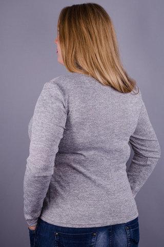 Міні. Жіноча кофтинка великих розмірів. Сірий.