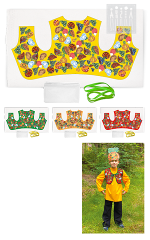 Фото Овощи жилет ( комплект для пошива ) рисунок Ткань с принтами