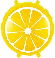 Шар (18''/46 см) Круг, Лимон, Желтый, 1 шт.
