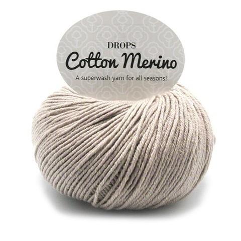 Пряжа Drops Cotton Merino 03 серо-бежевый
