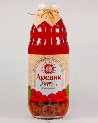Компот Аревик из малины, 1л