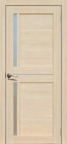 > Экошпон Двероникс 02, стекло матовое, цвет ясень латте, остекленная