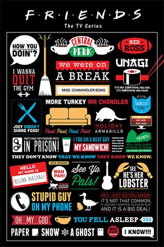 Постер: Friends (Infographic)