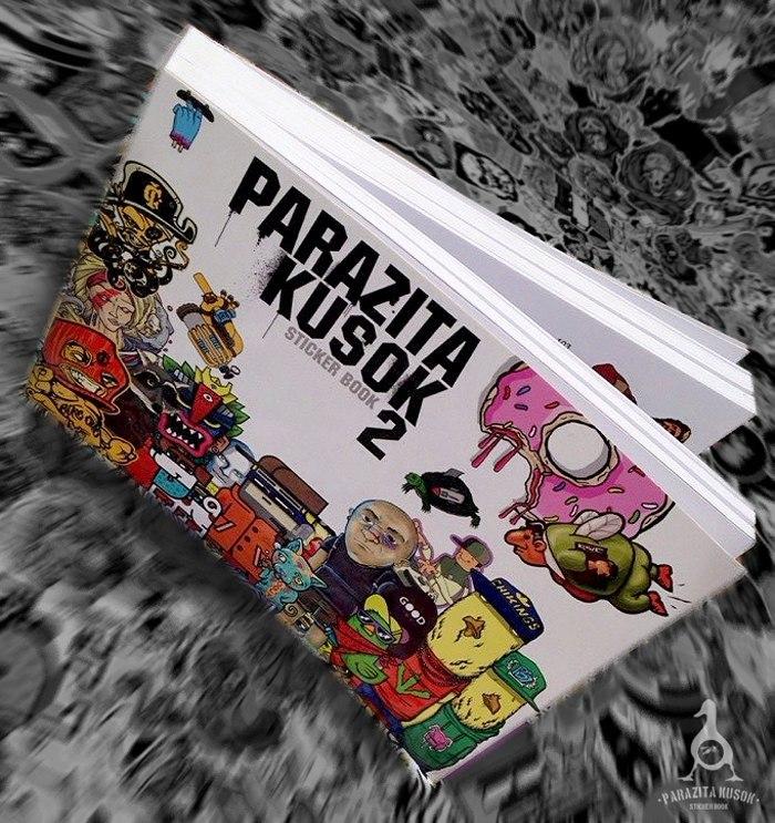Книга со стикерами PARAZITA KUSOK 2