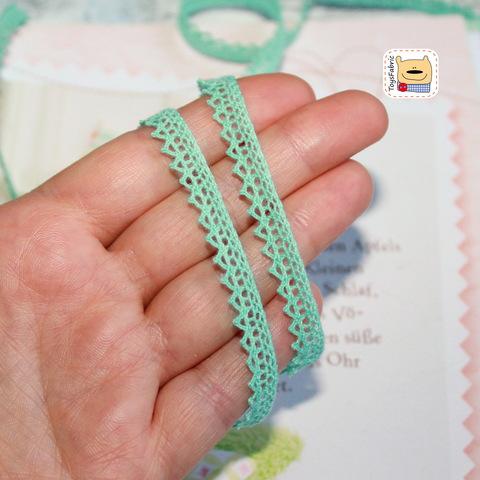 Кружево вязаное КХ6-М (мятное) 90см