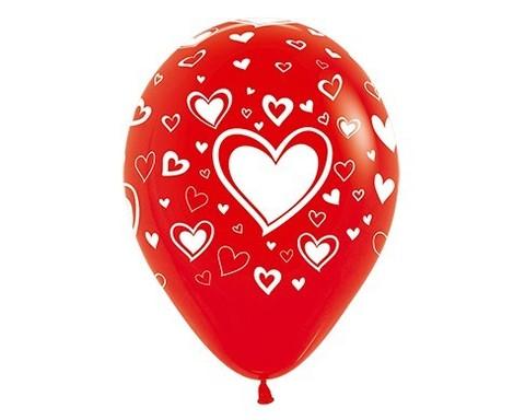 Шар с Большим Сердцем (Красный)
