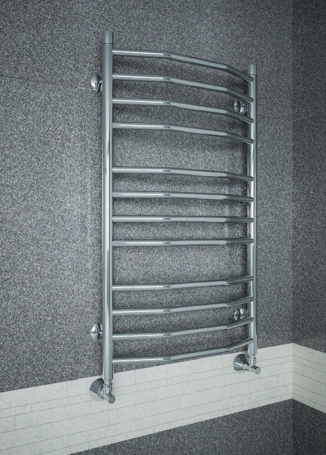 Victoria - водяной полотенцесушитель выполненный в форме классической лесенки с перекладинами в виде трапеции.