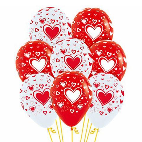 Букет из Воздушных шаров с Большим Сердцем