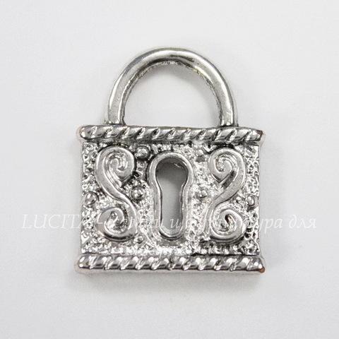 """Подвеска """"Замочек"""" 20х16 мм (цвет - античное серебро)"""