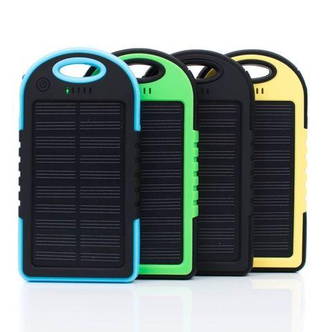 Внешний аккумулятор Solar power bank 5000 mah на солнечной батарее