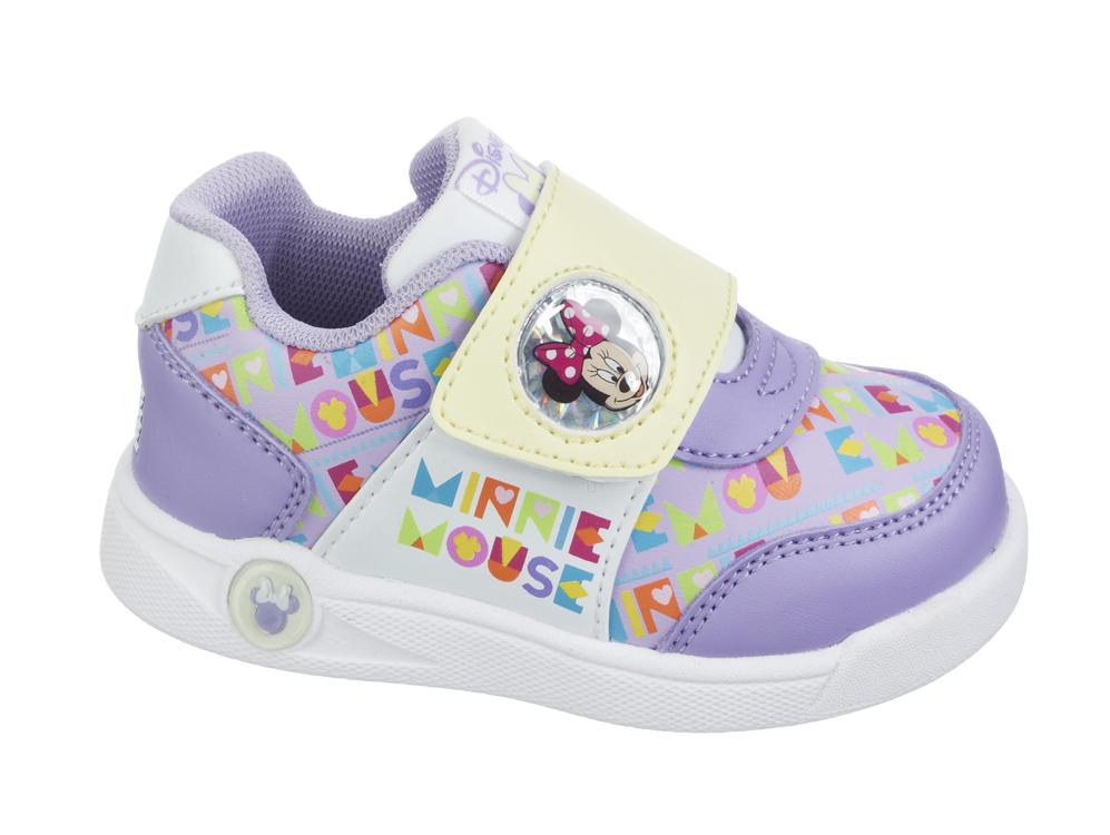 Кроссовки Минни Маус (Minnie Mouse) на липучке для девочек, цвет сиреневый