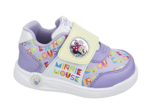 Кроссовки Минни Маус (Minnie Mouse) на липучке для девочек, цвет сиреневый. Изображение 1 из 8.