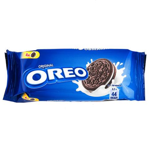 """Печенье """"Oreo"""" с какао и начинкой с ванильным вкусом, 38 г"""