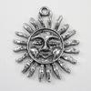 "Подвеска ""Солнце"" (цвет - античное серебро) 34х30 мм"