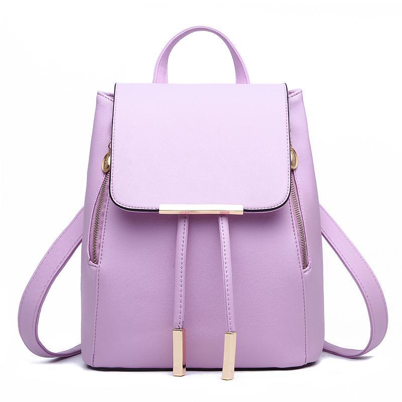 Женский средний рюкзак 24х29х15 см сиреневый 3588-8