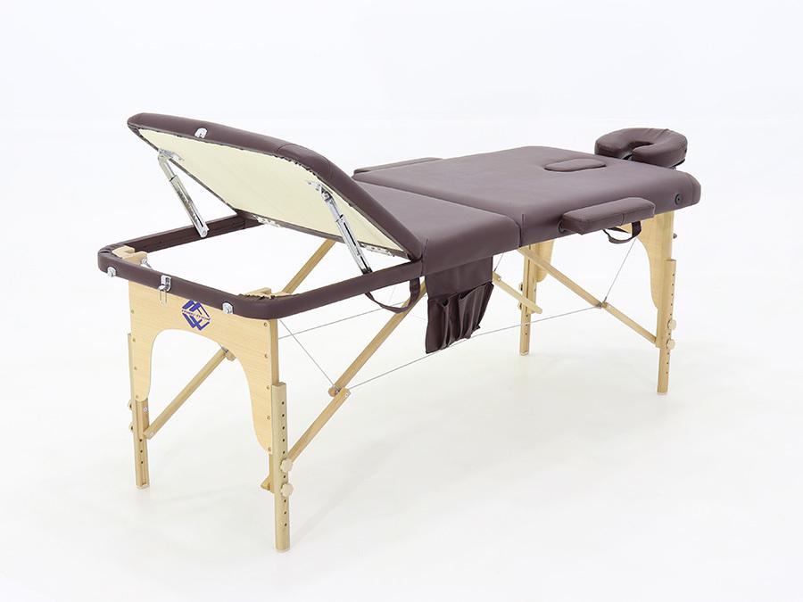 Складной массажный стол Med-Mos JF-AY01 (МСТ-103Л), бук, 3-секционный, с регулировкой высоты фото